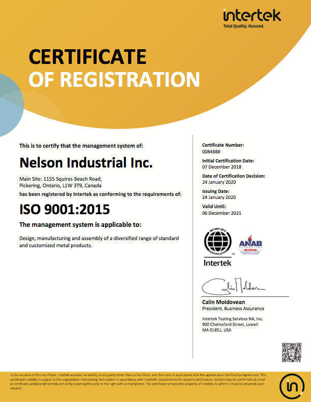 Nelson Industrial Inc 0084888